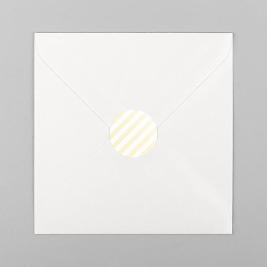Stickers pour enveloppes naissance Rayures pastel jaune - Vue 1