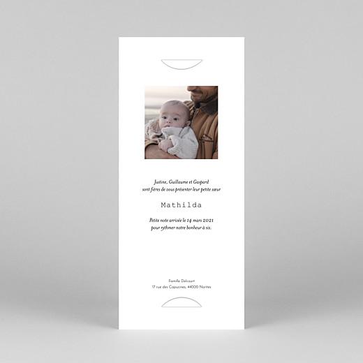 Faire-part de naissance Ruban pictos (marque-page) rose - Vue 4