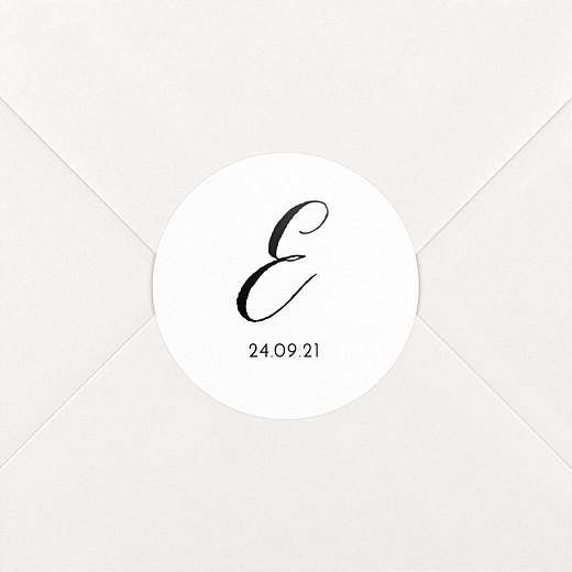 Stickers pour enveloppes naissance Tendre innocence blanc - Vue 2