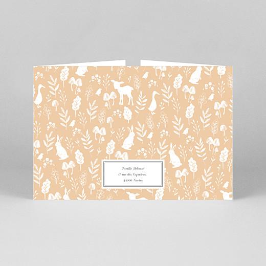 Faire-part de naissance Fable (fenêtre paysage) orange - Vue 3