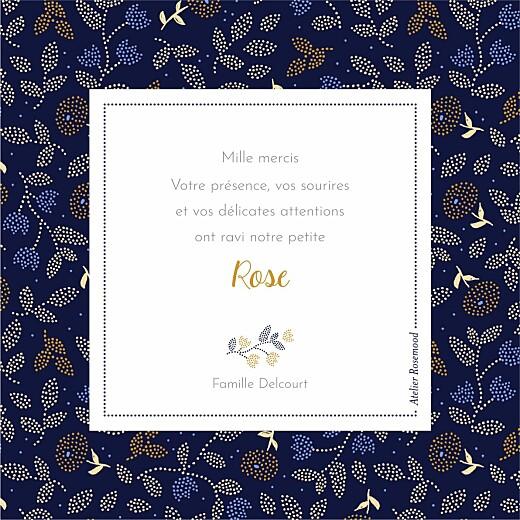 Carte de remerciement Broderie florale beige - Page 2