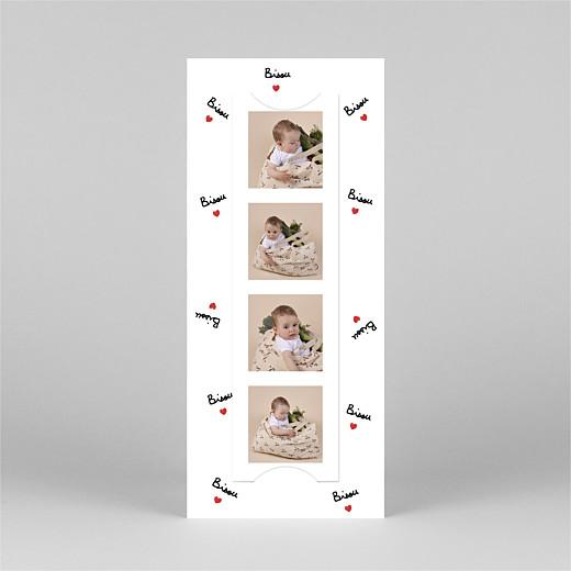 Faire-part de naissance Bisou by mathilde cabanas (marque-page) rouge - Vue 3