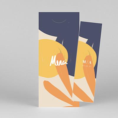 Carte de remerciement mariage moderne merci by mathilde cabanas (marque-page) orange