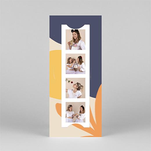 Carte de remerciement mariage Merci by mathilde cabanas (marque-page) orange - Vue 3
