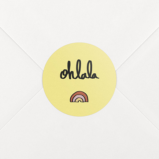 Stickers pour enveloppes naissance Ohlala by mathilde cabanas jaune - Vue 2