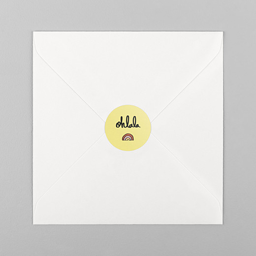 Stickers pour enveloppes naissance Ohlala by mathilde cabanas jaune - Vue 1
