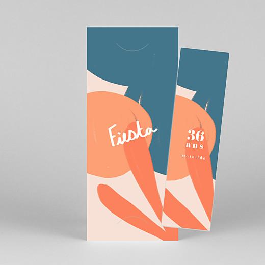 Carte d'invitation anniversaire adulte Fiesta by mathilde cabanas (marque-page) agrumes - Vue 1
