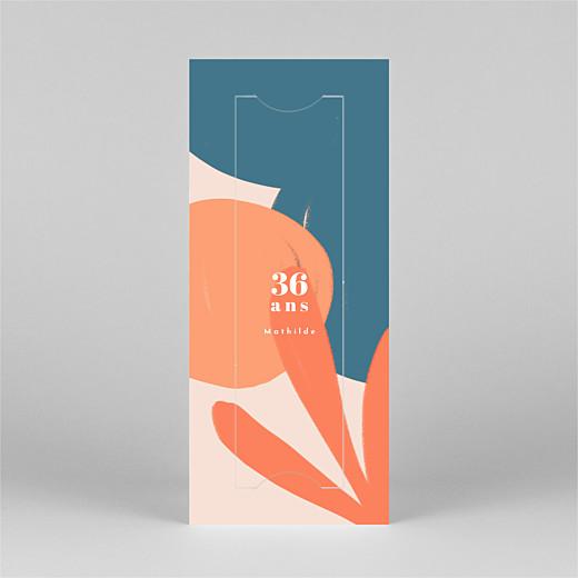 Carte d'invitation anniversaire adulte Fiesta by mathilde cabanas (marque-page) agrumes - Vue 2