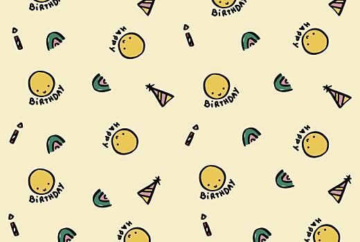 Carte d'anniversaire Happy by mathilde cabanas beige