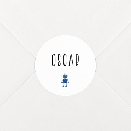 Stickers pour enveloppes naissance Il était une fois espace blanc - Vue 2