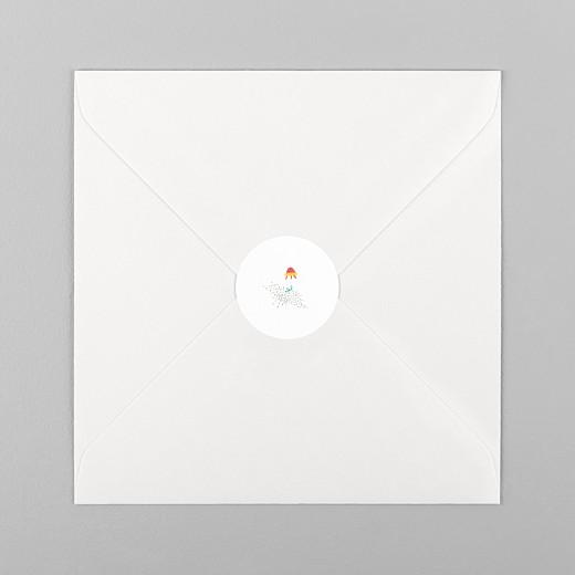 Stickers pour enveloppes naissance Il était une fois espace blanc - Vue 1