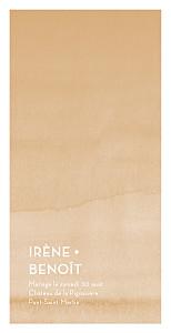 Menu de mariage orange aquarelle (4 pages) ocre