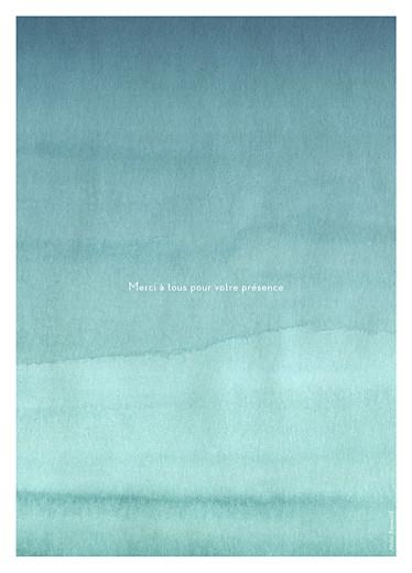 Livret de messe mariage Aquarelle turquoise - Page 4