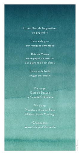 Menu de mariage Aquarelle deep menthe - Page 2