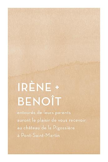 Carton d'invitation mariage Aquarelle (portrait) ocre