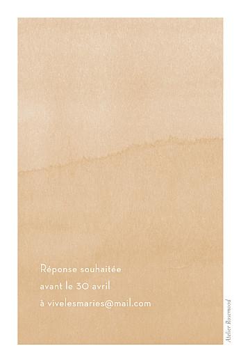 Carton d'invitation mariage Aquarelle (portrait) ocre - Page 2
