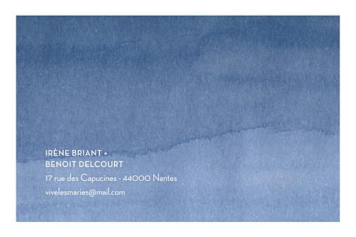 Carton réponse mariage Aquarelle (paysage) bleu - Page 2