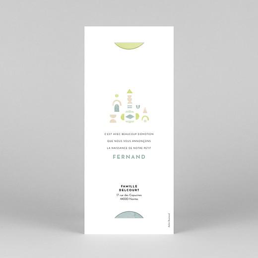 Faire-part de naissance Totem (marque-page) vert d'eau - Vue 4