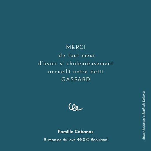 Carte de remerciement Coucou by mathilde cabanas bleu - Page 2