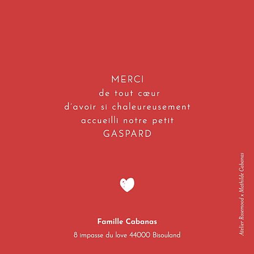 Carte de remerciement Bisou by mathilde cabanas rouge - Page 2