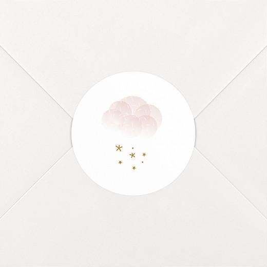 Stickers pour enveloppes baptême Brume rose - Vue 2