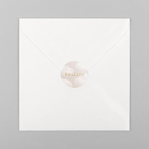 Stickers pour enveloppes baptême Brume rose - Vue 1