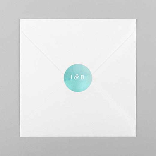 Stickers mariage Aquarelle bleu - Vue 1