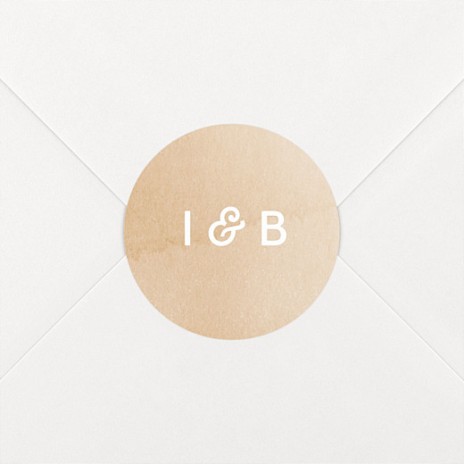 Stickers mariage Aquarelle ocre - Vue 2