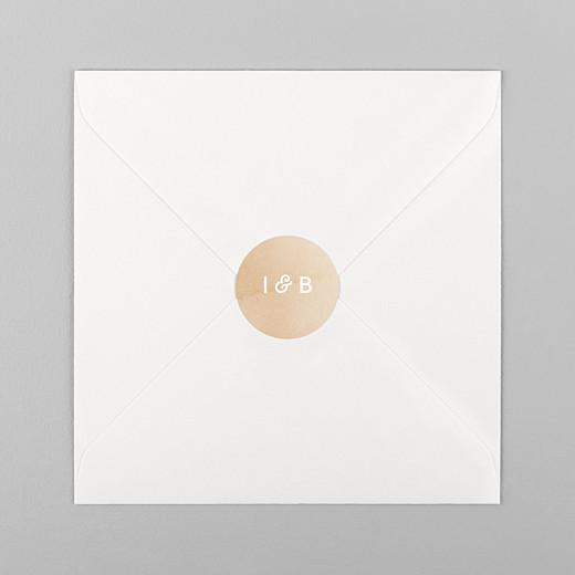 Stickers mariage Aquarelle ocre - Vue 1