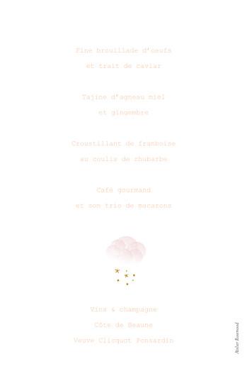 Menu de baptême Brume rose - Page 2