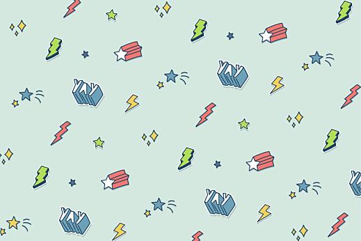 Carte d'anniversaire Super-motif vert