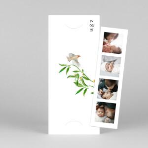 Faire-part de naissance Mélopée (marque-page) blanc