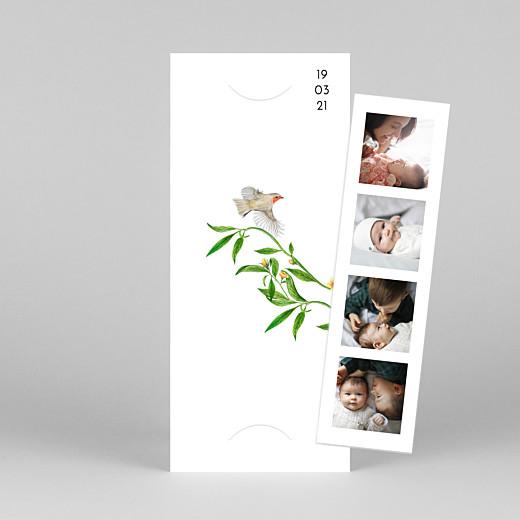 Faire-part de naissance Mélopée (marque-page) blanc - Vue 1