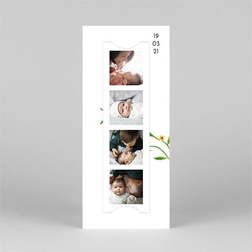 Faire-part de naissance Mélopée (marque-page) blanc - Vue 2
