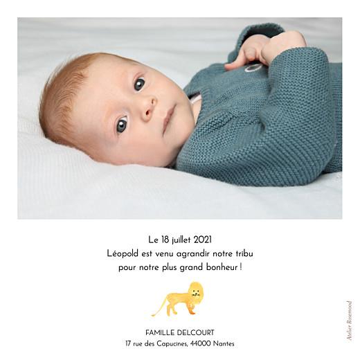 Faire-part de naissance Savane blanc - Page 2