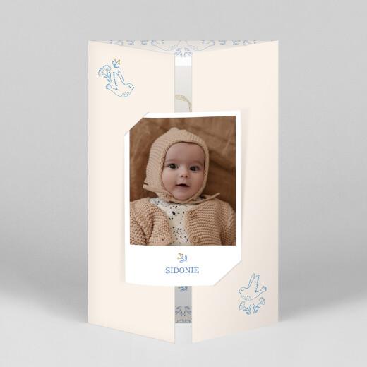 Faire-part de naissance L'envolée (fenêtre) bleu - Vue 1