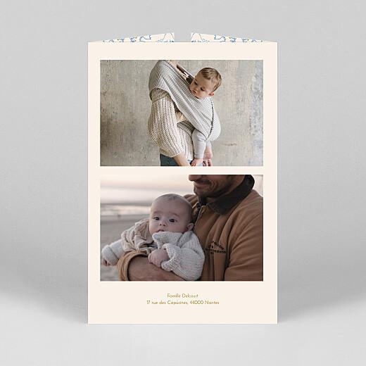 Faire-part de naissance L'envolée (fenêtre) bleu - Vue 3