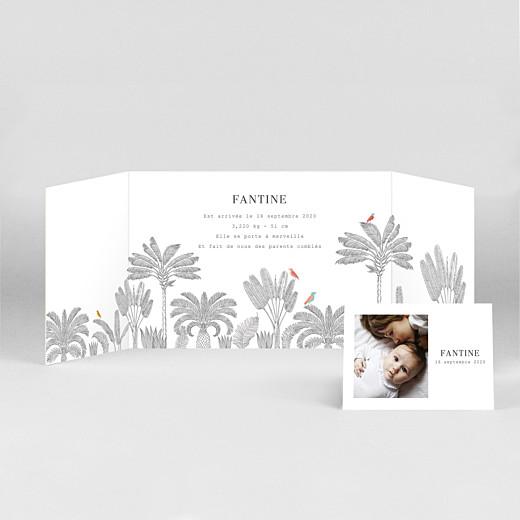 Faire-part de naissance Oiseaux de paradis (fenêtre paysage) rose - Vue 2