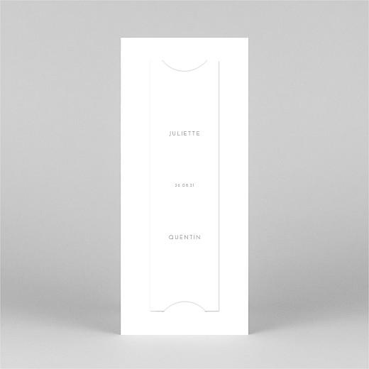 Carte de remerciement mariage Elégant cœur (marque-page) blanc - Vue 3