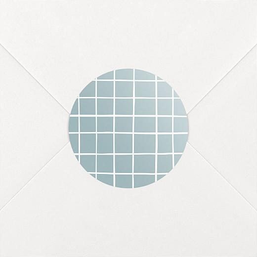 Stickers pour enveloppes naissance Catelle bleu - Vue 2