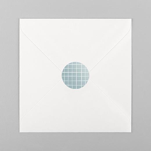 Stickers pour enveloppes naissance Catelle bleu - Vue 1