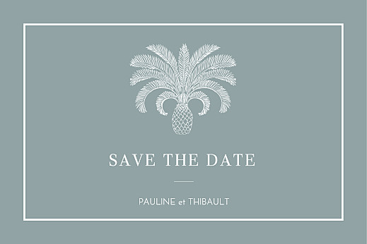 Save the Date Oiseaux de paradis bleu