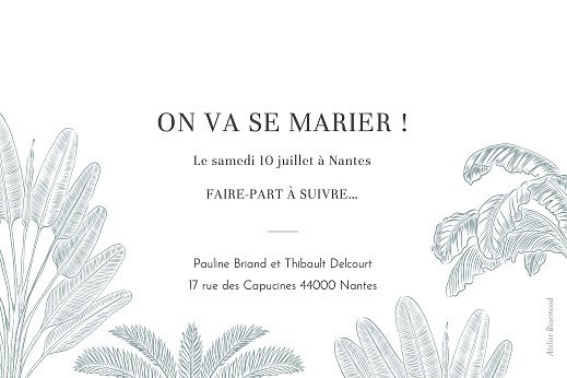 Save the Date Oiseaux de paradis bleu - Page 2