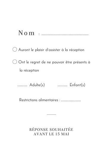 Carton réponse mariage Oiseaux de paradis portrait bleu - Page 2