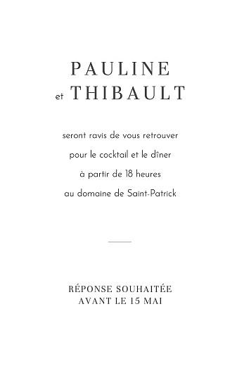 Carton d'invitation mariage Oiseaux de paradis portrait bleu - Page 2
