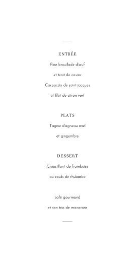 Menu de mariage Oiseaux de paradis bleu - Page 3