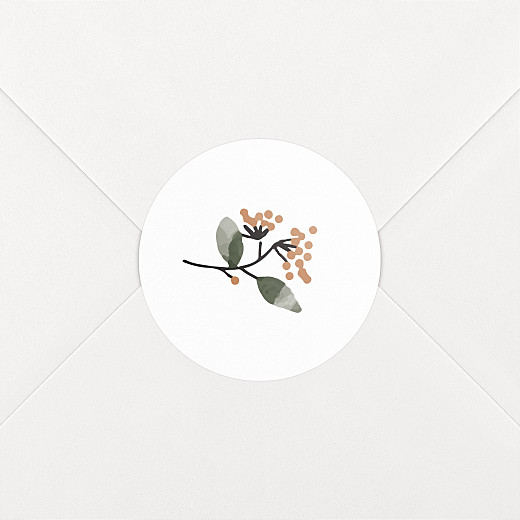 Stickers pour enveloppes naissance Summer family-blanc - Vue 2