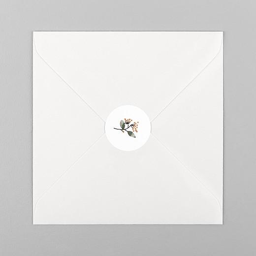 Stickers pour enveloppes naissance Summer family-blanc - Vue 1