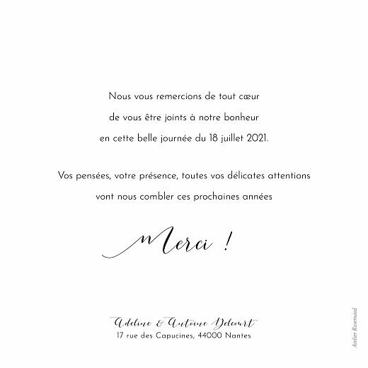 Carte de remerciement mariage Tendre innocence (photos) blanc - Page 2