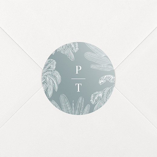 Stickers pour enveloppes mariage Oiseaux de paradis bleu - Vue 2